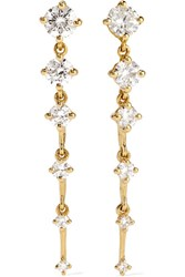 Fernando Jorge Sequence 18 Karat Gold Diamond Earrings One Size