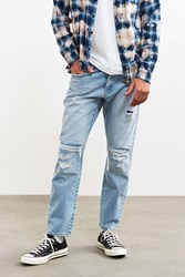 Neuw Eastern Block Destructed Boss Cropped Jean Vintage Denim Light