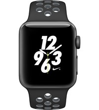 Apple Series 2 Black And Cool Grey 38Mm Watch Nike Space Gray Black