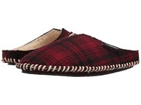 Woolrich Wool Mill Scuff Red Hunting Plaid Wool Men's Slippers