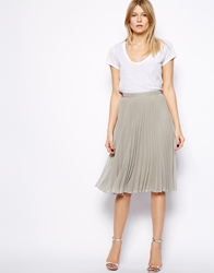 Mango Metallic Midi Skirt Grey