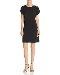 Betsey Johnson Embellished Shift Dress Black