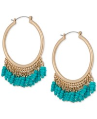 Inc International Concepts Robert Rose For Gold Tone Bead Hoop Earrings Only At Macy's Blue