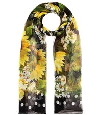 Dolce And Gabbana Printed Silk Scarf Multicoloured
