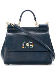 Dolce And Gabbana Sicily Tote Bag Blue