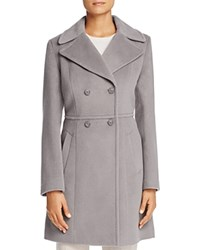 Cole Haan Double Breasted Notched Collar Coat Light Gray