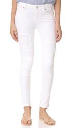 True Religion Halle Super Skinny Crop Jeans Optic White Self Patch