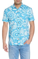 Kahala Duke's Pareo Trim Fit Sport Shirt Sky Blue