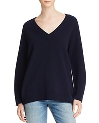 Alexander Wang T By Wool Cashmere V Neck Sweater Dark Blue