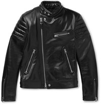 Tom Ford Slim Fit Leather Jacket Black