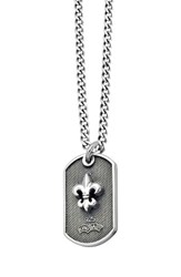 King Baby Studio Men's Dog Tag Pendant Necklace Silver