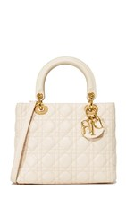 Wgaca What Goes Around Comes Around Dior Lady Bag Previously Owned Cream