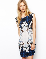 2Nd Day Graphic Printed Dress Blue