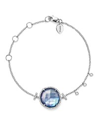Meira T 14K White Gold Blue Sapphire And Moonstone Doublet Bracelet With Diamonds Blue White