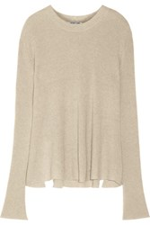 Helmut Lang Cashmere And Linen Blend Sweater Stone