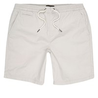 River Island Mens Light Grey Slim Fit Casual Shorts