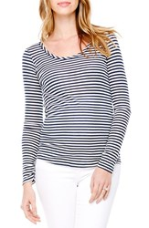Women's Ingrid And Isabel Stripe Scoop Neck Maternity Tee