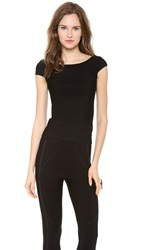 Herve Leger Boat Neck Top Black