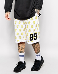 Eleven Paris X Life Is A Joke Bart Sweat Shorts White