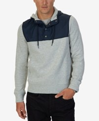 Nautica Men's Colorblocked Hoodie Grey Heather