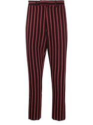 Ann Demeulemeester Striped Straight Leg Trousers 60