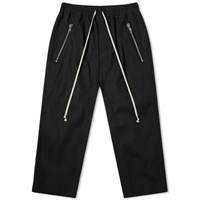 Rick Owens Tecuatl Zip Pocket Drawstring Pant Black