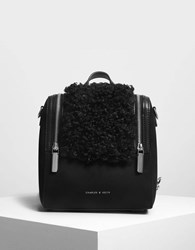 Charles And Keith Zipper Detail Backpack Black