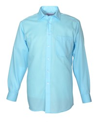 Double Two Men's Paradigm King Size Single Cuff 100 Cotton Shirt Blue