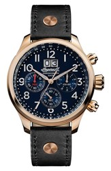 Ingersoll Delta Chronograph Leather Strap Watch 40Mm