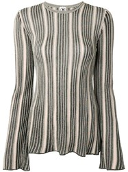M Missoni Striped Embroidered Top 60