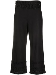 Twin Set Beaded Fringe Trousers Black