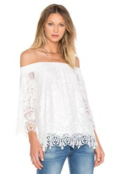 Fifteen Twenty Off The Shoulder Lace Top White