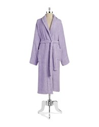 Lord And Taylor Cotton Terry Robe Lavender