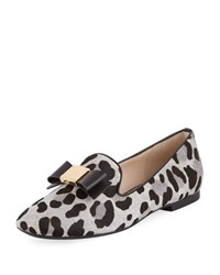 Cole Haan Tali Grand Bow Ocelot Print Loafers Mercer Ocelot