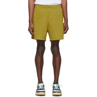 Acne Studios Yellow Emanuel Face Shorts
