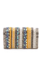 Alice Olivia Stripe Be Beaded Clutch Multi