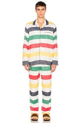 Hudson's Bay Company Flannel Pajamas White