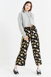 Urban Outfitters Uo Side Striped Satin Track Pant Navy