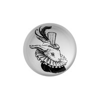 Rory Dobner Domed Paperweight Bling Bunny
