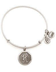 Alex And Ani Initial H Charm Bangle Silver