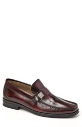 Sandro Moscoloni Men's Parma Moc Toe Loafer Burgundy
