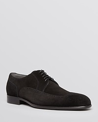 Boss Hugo Boss Brosion Suede Wingtip Derby Oxfords Black