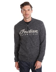 Lucky Brand Indian Motorcycles Zip Sweater Charcoal