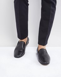 Zign Leather Smart Loafer In Black