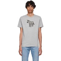 Paul Smith Ps By Ssense Exclusive Grey Zebra T Shirt