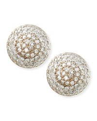 Lentil Ice 24K Gold And Diamond Button Earrings Gurhan