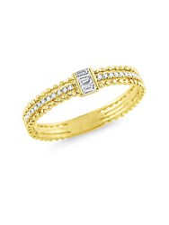 Kc Designs Baguette Diamond Stack Yellow Gold Ring
