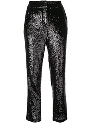 A.L.C. Glitter Detail Trousers Black