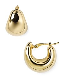 Nancy B Vermeil Hoop Earrings Gold