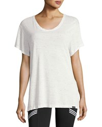 Koral Banded Short Sleeve Jersey Tee White